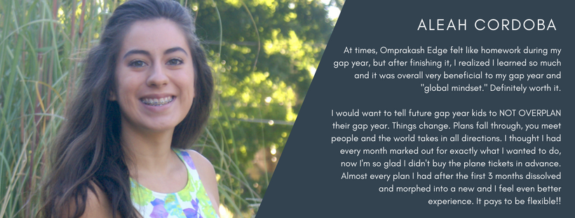 gap year, student testimonial, travel access project